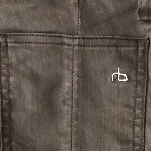 Rag and Bone - shiny black jeans